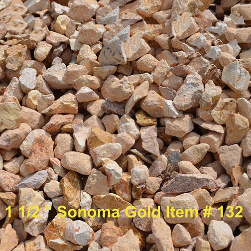Sierra rock sonoma gold 1 1 2 for Landscape rock delivery near me
